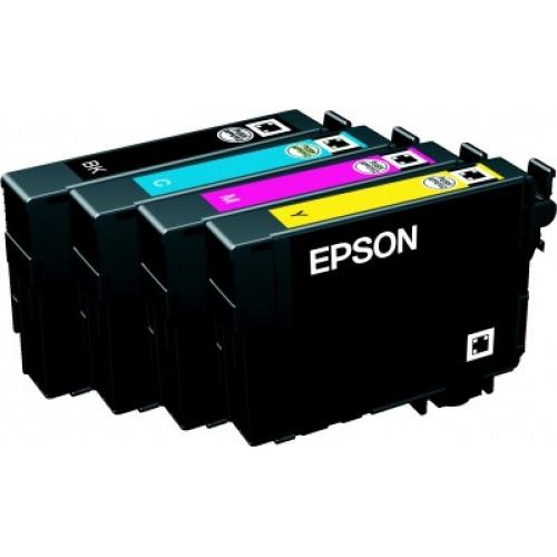 EPSON Cartouches 18 - Pack de 4 - Noir, Cyan, Magenta, Jaune