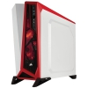 CORSAIR Carbide SPEC-ALPHA  Windowed Boîtier Plexiglass ATX Blanc/Rouge