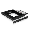 """ICY BOX Adaptateur disque HDD/SSD 2.5"""" pour emplacement DVD 12,7 mm"""