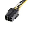 STARTECH Câble adaptateur d'alimentation PCI-e à 6 broches (F) - 8 broches (M)