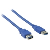 Câble Extension USB 3.0 USB A (M) - USB A (F) 1.00m Bleu