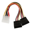 VALUELINE Câble d'alimentation interne Molex (M) - 2x SATA (F) 0.15m