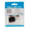 VALUELINE Câble d'alimentation interne SATA (M) - Molex (F) 0.15 m