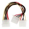 VALUELINE Câble d'alimentation interne Molex Mâle - 2x Molex Femelle 0.15 m