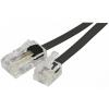 Câble téléphonique RJ11 (M) - RJ45 (M) 10.00m Noir